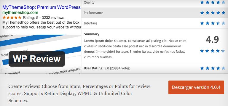 wp-review wordpress